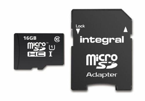 CARTÃO DE MEMORIA MICRO SD INTEGRAL(16GB HCI)